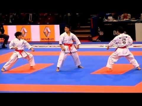Team Kata + Bunkai KURURUNFA by JAPAN - FINAL 21st WKF World Karate Championships - YouTube