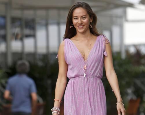 A Sepang Michibata da sballo. Per il paddock vestita di lilla  - Corriere dello Sport.it