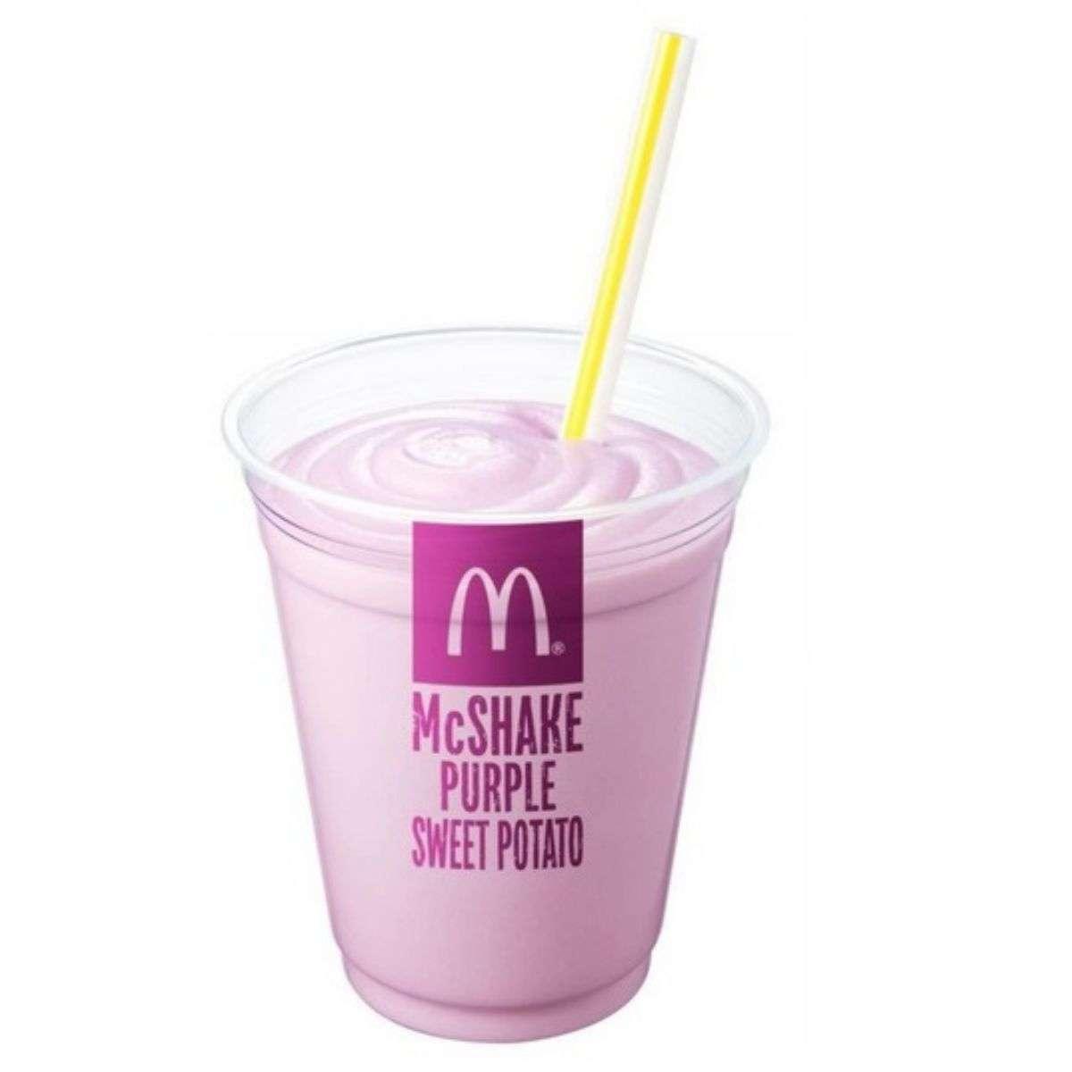 秋限定『マックシェイク 紫いも』がマクドナルドの100円メニューに初登場 - 週アスPLUS