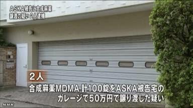 ASKA被告に覚醒剤販売容疑、住吉会系事務所捜索 警視庁