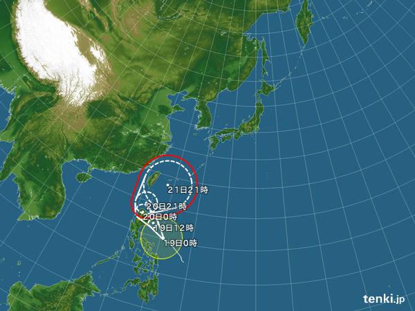 【台風16号】21日頃に沖縄へ、23日以降は本州へ接近する恐れ