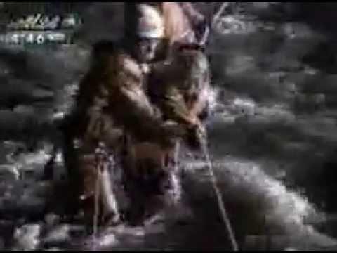 藁科川の中州から救出されたDQNがレスキュー隊に暴言 - YouTube
