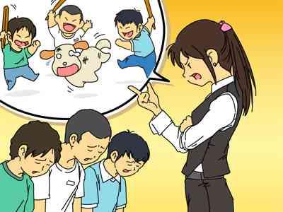 女教師、クラス全員の前で小1男児のズボン脱がせる…別の児童の下着を下げた事に対する叱責