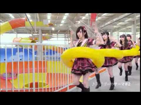 NMB48出演CM動画 スパワールド世界の大温泉 スパプーキッズ編 スライダー編 プール編 一挙大公開! - YouTube