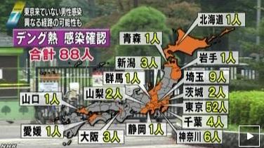 「東京訪れず」千葉の男性がデング熱 千葉市稲毛区で感染か