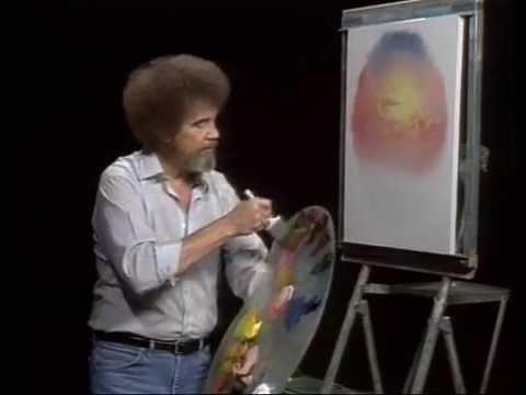 Bob Ross-ボブの絵画教室 ~パステル色の海~ 1/2 - YouTube