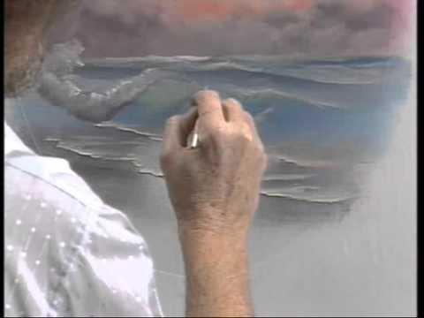 Bob Ross-ボブの絵画教室 ~パステル色の海~ 2/2 - YouTube