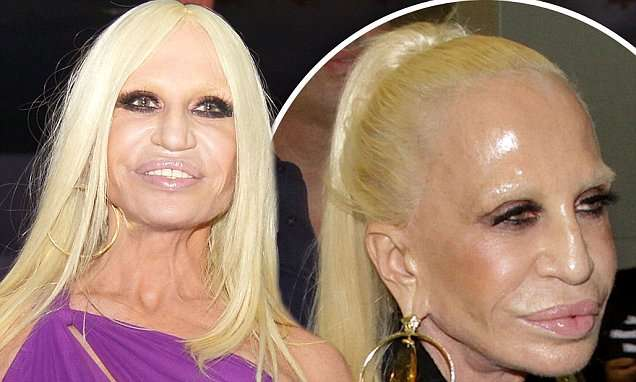 Donatella Versace in São Paulo with a matte complexion after THAT photo | Daily Mail Online