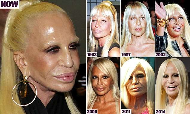 How Donatella Versace transformed herself into a human waxwork | Daily Mail Online