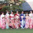 オスカープロモーションの美女11名が晴れ着姿披露 武井咲、剛力彩芽、忽那汐里らが今年を振り返る