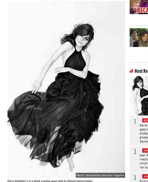 英女優キーラ・ナイトレイがトップレス姿を披露!大人の雰囲気漂うセクシーでクールな1枚