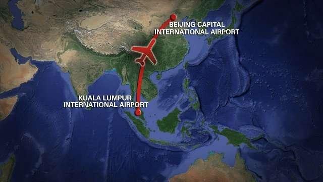 CNN.co.jp : マレーシア航空機が消息絶つ 239人乗り