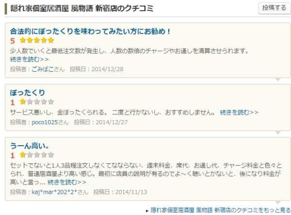 「ぼったくられました」新宿の居酒屋での出来事を告発したツイートが一晩で17,000回以上RTされ話題に