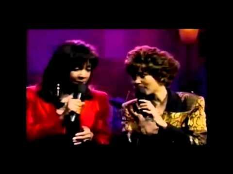 Whitney Houston & Natalie Cole - Bridge Over Troubled Water - Big Break 1990 FULL VERSION - YouTube