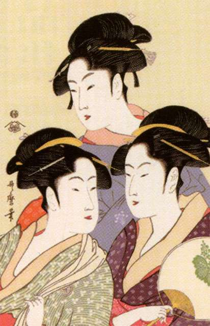 「喜多川 歌麿 寛政 三 美人」の画像検索結果