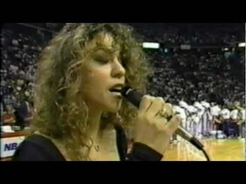 Mariah Carey-America The Beautiful(Live NBA Finals 1990)High Quality - YouTube