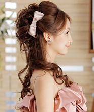 結婚式 二次会 髪型 派手