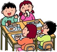 学校の給食時間