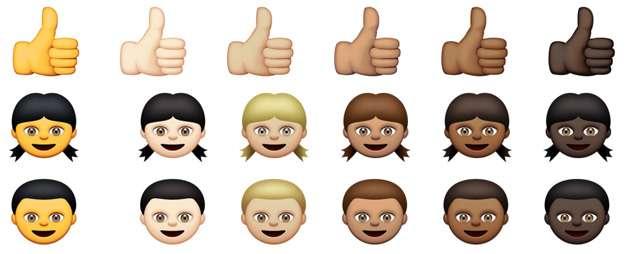 アップル、絵文字に人種と肌の色の違いを導入。iOS 8.3 / OS Xベータから - Engadget Japanese