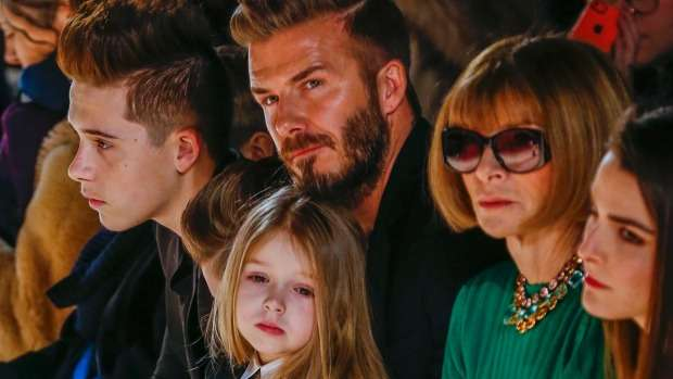 Beckham brood sit front row at Victoria's New York fashion show | Stuff.co.nz