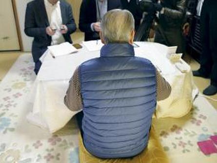 湯川遥菜さんの父、声詰まらせ語る 「(後藤健二さんの)ご家族に申し訳ない」