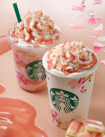 スターバックスに春限定「キャラメリー さくら チョコレート ラテ」ほんのり桜香る「さくらシフォンケーキ」も