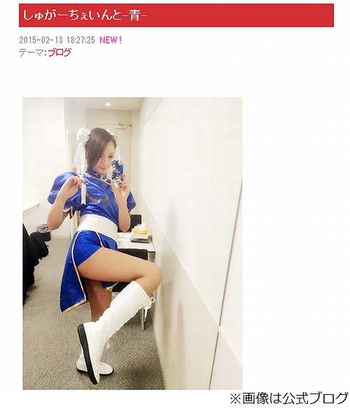 佐藤かよがセクシーな春麗コス、ブログやInstagramの写真に反響。