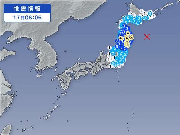 【地震】三陸沖でM6.9の地震、岩手県沿岸に津波注意報発表