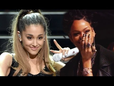 Ariana Grande Laughed At By Rihanna At iHeartRadio - YouTube