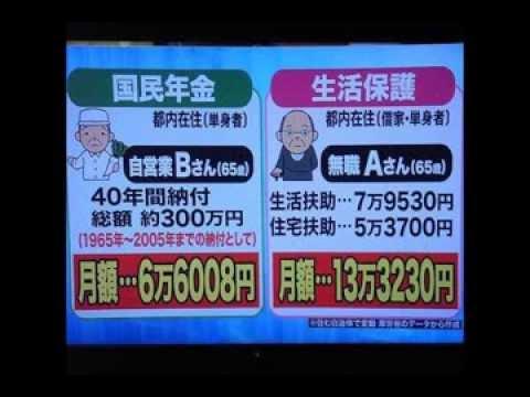 生活保護受給者「月収29万円で足りない理由!」 - YouTube