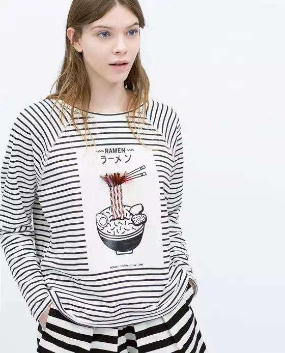 ファッションブランドZARAが何を思ったかラーメンTシャツを出すwwwwwwww:ハムスター速報