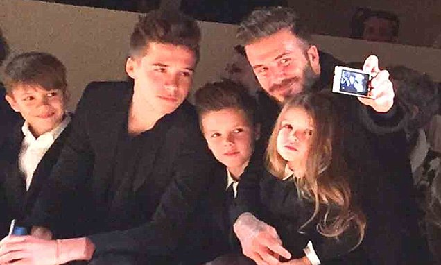 Victoria Beckham's husband David and children show their support at NYFW show | Daily Mail Online