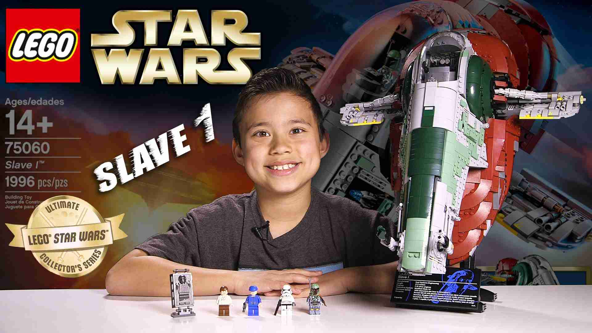 LEGO SLAVE 1 - LEGO Star Wars UCS Set 75060 Time-lapse, Stop Motion, Unboxing & Review - YouTube