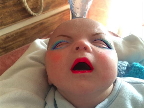 メイクアプリを使って赤ちゃんの写真を加工したらホラーになったww - AOLニュース