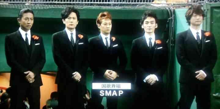 SMAPが初の国歌斉唱!中居正広は「ボリューム落として歌った」と告白
