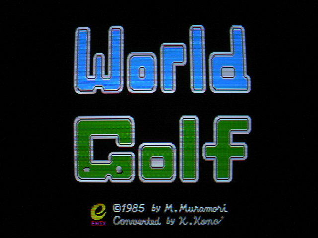 FM-77用ゲーム ワールドゴルフ (エニックス ENIX) 1985年 #前編