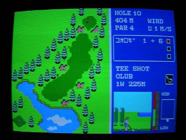 FM-77用ゲーム ワールドゴルフ (エニックス ENIX) 1985年 #後編