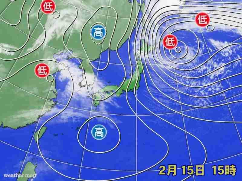 北日本 16日明け方にかけて暴風に警戒を (ウェザーマップ) - Yahoo!ニュース