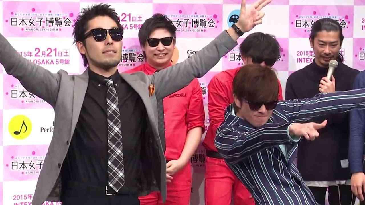 完コピ!オリラジが「ラッスンゴレライ」をやってみた !8.6秒バズーカーも驚愕!「日本女子博覧会-JAPAN GIRLS EXPO 2015 春-」発表会1 - YouTube