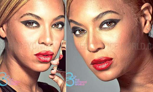 Beyonce's unretouched L'Oreal advert photos leak online | Daily Mail Online