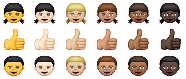 """アップル、絵文字に人種と肌の色の違いを導入→""""黄色の肌""""が「黄色すぎる」「アジア人への偏見」と批判噴出"""