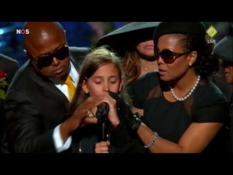 Michael Jackson Memorial - Daughter Paris speech - YouTube