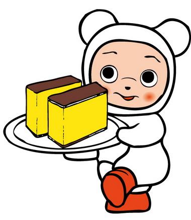 文明堂のCMキャラクターはネコじゃなくて「クマ」 おひとりさま用カステラのパッケージに