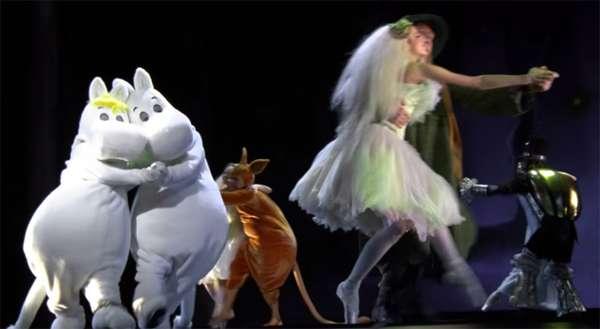 フィンランドで上演の「ムーミン」バレエ作品 動画がやっぱりシュールだった