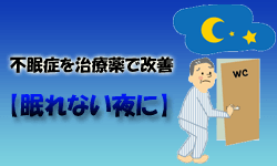 不眠症を治療薬で改善【眠れない夜に】