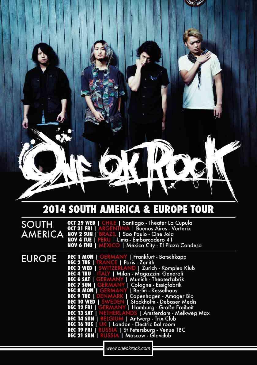 ONE OK ROCK、南米&ヨーロッパツアー決定!超過密スケジュールにメンバーの体調を心配する声も | 音楽がないと生きていけない系ヲタがまとめてみた