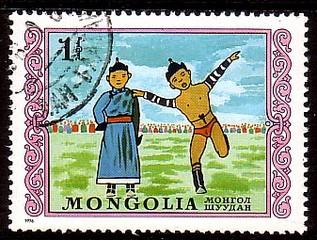 面白い絵柄の切手を貼るトピ