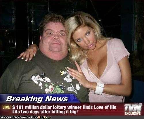 【米】宝くじで181億円当てた2日後に運命の女性と出会った男性「幸運は続くものなんだね」