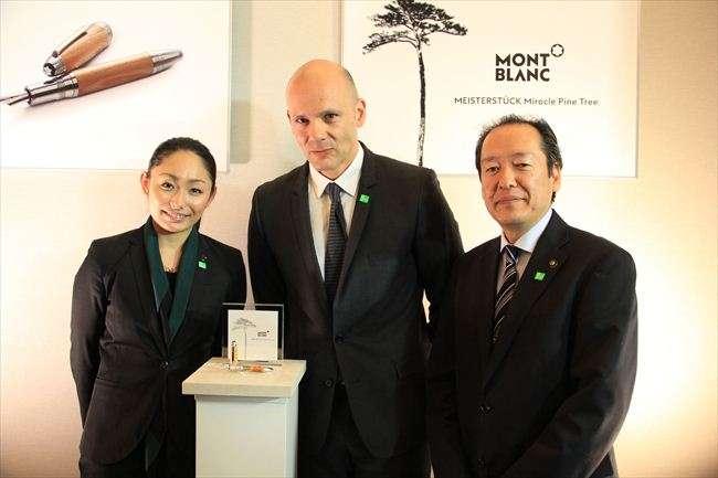 「子どもたちに希望を」モンブランの贈呈イベントに安藤美姫も出席 「奇跡の一本松」から万年筆