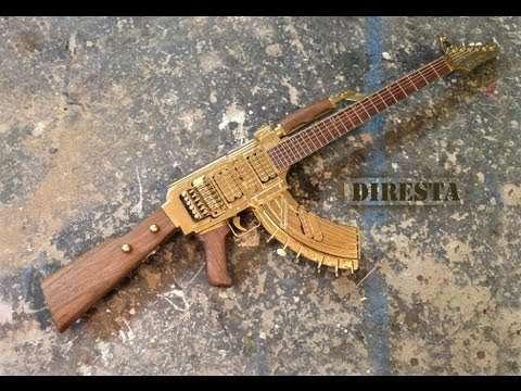 ✔ DiResta AK47 Guitar (AKA the GATTAR) - YouTube